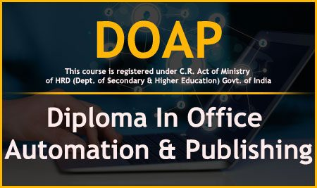 DOAP – Diploma In Office Automation & Publishing